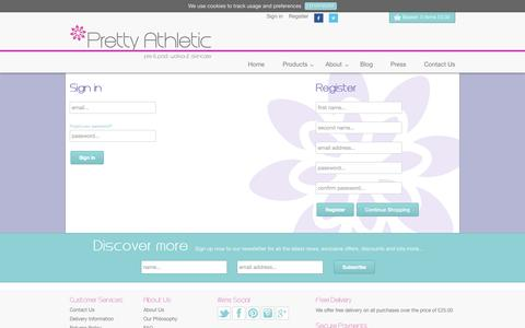 Screenshot of Login Page prettyathletic.com - Account                           | Pretty Athletic - captured Sept. 30, 2014