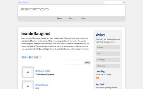 Screenshot of Team Page escendo.com - Staff Directory - captured Jan. 29, 2016
