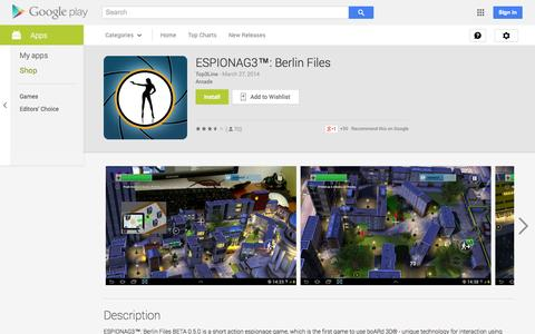 Screenshot of Android App Page google.com - ESPIONAG3™: Berlin Files - Android Apps on Google Play - captured Oct. 23, 2014