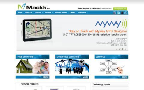 Screenshot of Home Page mackk.in - Mackk Networks - captured Feb. 3, 2016