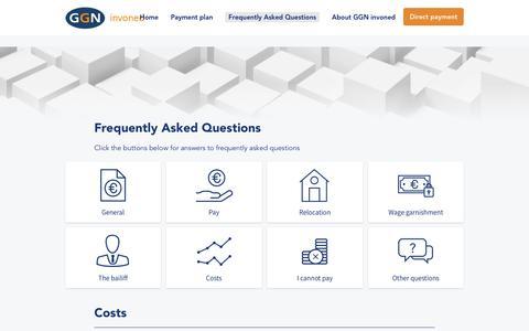 Screenshot of FAQ Page invoned.nl - Costs - Invoned - captured Sept. 20, 2018