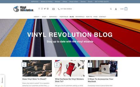 Screenshot of Blog vinylrevolution.co.uk - Blog | Vinyl Revolution - captured Sept. 14, 2017