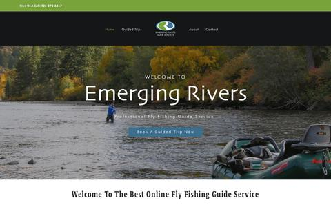 Screenshot of Home Page emergingrivers.com - Emerging Rivers Guide Services | Derek Young | Profession Fly Fishing Guide Service - captured Jan. 21, 2017