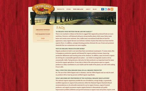Screenshot of FAQ Page countrychoiceorganic.com - FAQs | Country Choice Organic - captured Sept. 30, 2014