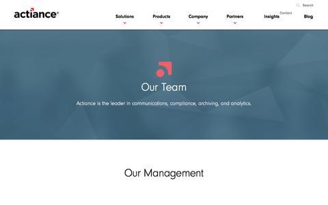 Screenshot of Team Page actiance.com - Team - Actiance - captured Jan. 14, 2016