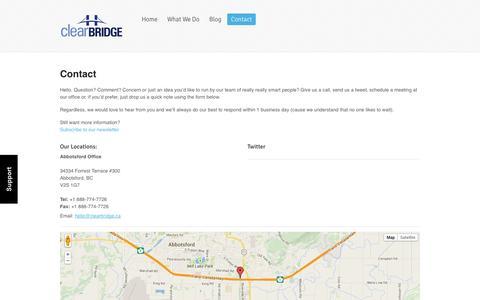 Clearbridge  |  Contact
