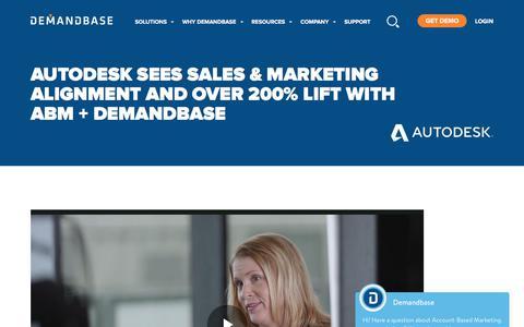 Screenshot of Case Studies Page demandbase.com - Autodesk Sees Sales & Marketing Alignment | Account-Based Marketing – Demandbase - captured Nov. 6, 2019
