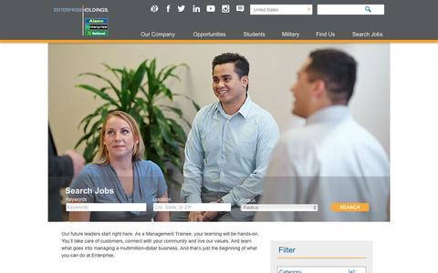 Screenshot of Jobs Page enterprise.com - Search Salisbury Jobs at Enterprise Holdings - captured April 30, 2017