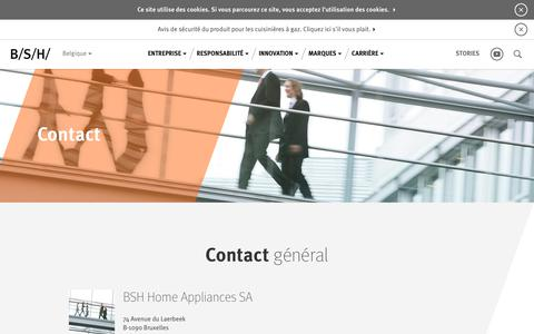 Screenshot of Contact Page bsh-group.com - Contact | BSH Hausgeräte GmbH - captured Oct. 5, 2018