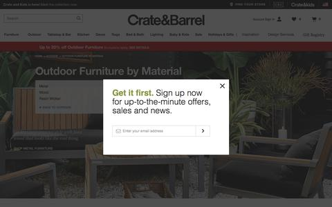 Sale: Outdoor Furniture by Material | Crate and Barrel
