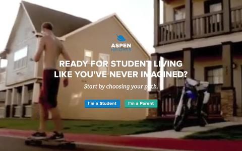 Screenshot of Home Page myaspenheights.com - Student Housing and Apartments | Aspen Heights - captured Dec. 20, 2015