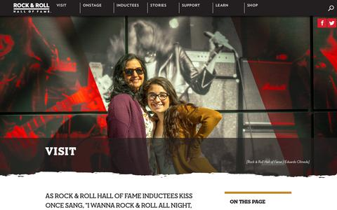 Screenshot of Hours Page rockhall.com - Visit | Rock & Roll Hall of Fame - captured June 27, 2017