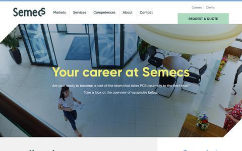 Screenshot of Jobs Page semecs.com - Careers | Semecs - captured Nov. 18, 2018