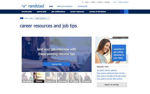 career resources and job tips