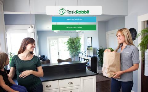 Screenshot of Signup Page taskrabbit.com - Log In to TaskRabbit - captured Sept. 17, 2014