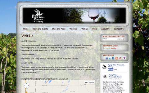 Screenshot of Maps & Directions Page flyingotter.com - Visit Flying Otter Vineyard and Winery - captured Oct. 6, 2014