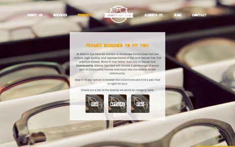 Screenshot of Products Page albertaeyecare.com - Eyeglasses | Sunglasses | Portland, OR | Alberta Eye Care - captured Sept. 30, 2014