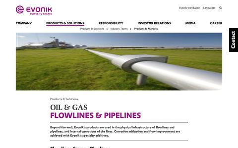 flowlines-pipelines - Evonik Industries AG
