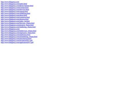 Screenshot of Site Map Page ftdagency.com captured Sept. 30, 2014