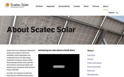 Screenshot of About Page scatecsolar.com - About | scatecsolar.com - captured Dec. 22, 2015