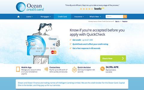 Credit Cards for Bad Credit | Ocean Finance®