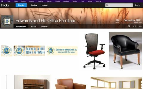 Screenshot of Flickr Page flickr.com - Flickr: Edwards and Hill Office Furniture's Photostream - captured Oct. 22, 2014