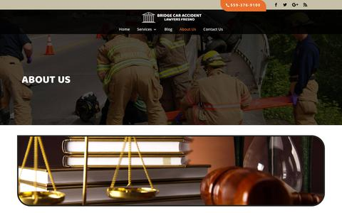 Screenshot of About Page bviplaw.com - About Bridge Car Accident Lawyers Fresno - captured Oct. 6, 2018