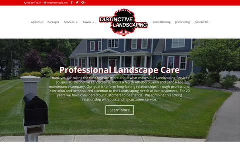Screenshot of Home Page redtrucks.net - Distinctive Landscaping   North Attleboro Landscaper   Lawn Mowing - captured Oct. 12, 2017