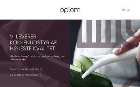 Screenshot of Home Page optom.dk - Forside - Optom - captured Oct. 14, 2018