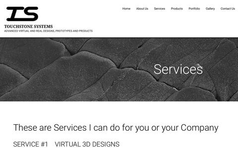 Screenshot of Services Page touchstonesystems.com - Services – TOUCHSTONE SYSTEMS - captured Nov. 7, 2017