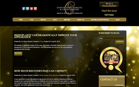 Screenshot of Blog cclscosmetic.com - Blog - Center for Cosmetic and Laser Surgery - CCLS Naperville - captured Oct. 2, 2014
