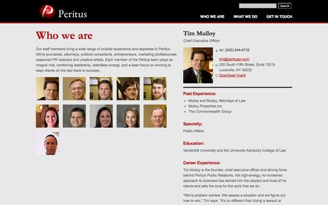 Screenshot of Team Page perituspr.com - Elite PR Firm - Communications Firm - Public Relations Firms | Peritus - captured Oct. 2, 2014