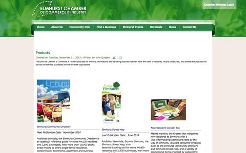 Screenshot of About Page elmhurstchamber.org - About Us - captured Oct. 2, 2014