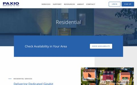 Screenshot of Signup Page paxio.com - Paxio Residential - Paxio - captured Nov. 15, 2019