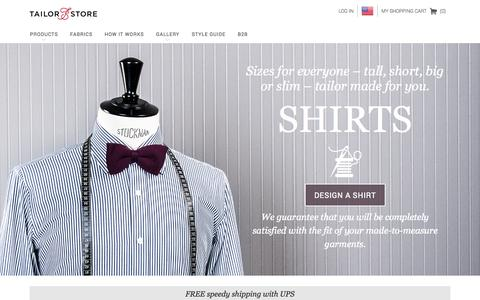 Screenshot of Home Page tailorstore.com - Made-to-measure shirts and tailored clothes online - Tailor Store - captured Sept. 23, 2014