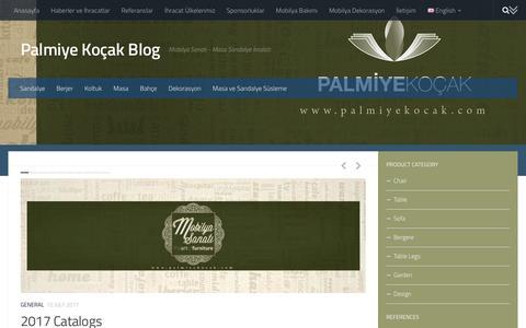 Screenshot of Blog palmiyekocak.com - Palmiye Koçak Blog - Mobilya Sanatı - Masa Sandalye İmalatı - captured July 13, 2017