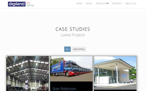 Screenshot of Case Studies Page digiland-led.co.uk - Case Studies -LED Portfolio- Digiland-LED - captured Oct. 10, 2014