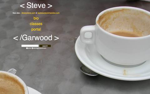 Screenshot of Home Page stevegarwood.com - Steve Garwood's Website - captured March 6, 2016