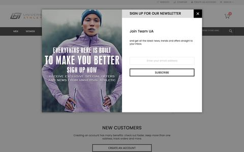 Screenshot of Login Page universalathletic.com - Customer Login  | Universal Athletic - captured June 11, 2017