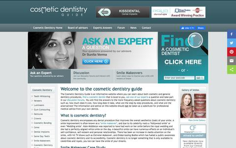 Screenshot of Home Page cosmeticdentistryguide.co.uk - Cosmetic dentistry Guide | Cosmetic dentists in London UK - captured Jan. 15, 2020