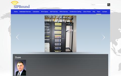 Screenshot of Team Page sipbound.com - Team – Sipbound Corporation - captured Oct. 2, 2018