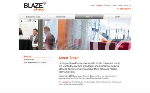 Screenshot of About Page blazeahead.co.uk - About Blaze - captured Oct. 5, 2014