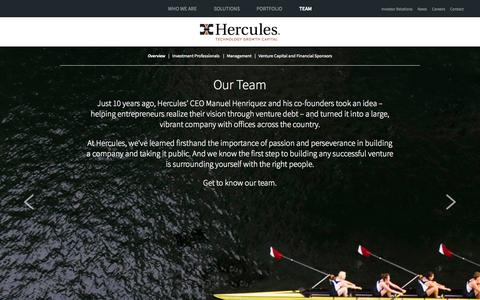 Screenshot of Team Page htgc.com - Our Team | Hercules Technology Growth Capital | HTGC - captured Oct. 2, 2014