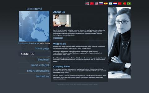 Screenshot of About Page smartcatalyst.net - Ceimici Novel - captured Oct. 2, 2014