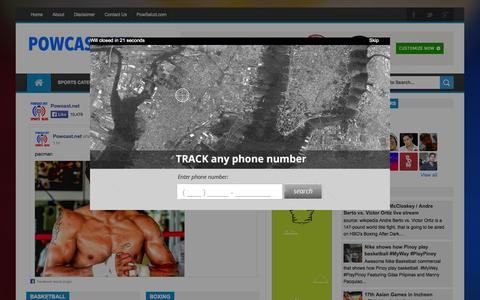 Screenshot of Home Page powcast.net - POWCAST.NET Sports Blog - captured Sept. 19, 2014