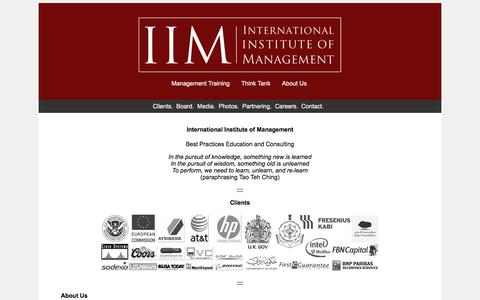 Screenshot of About Page iim-edu.org - International Institute of Management - Management Training  Institute in Las Vegas, USA - captured Oct. 15, 2017