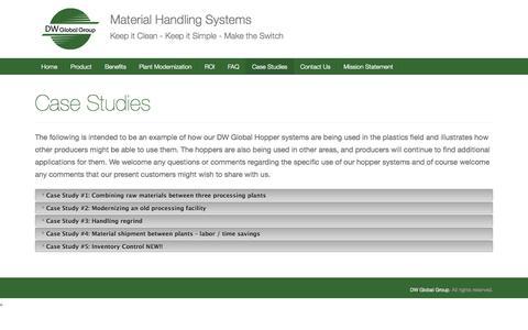 Screenshot of Case Studies Page dwglobalgroup.com - Case Studies   DW Global Group - captured Sept. 30, 2014