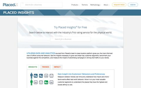 Insights - Foot Traffic Analytics - Placed | Placed