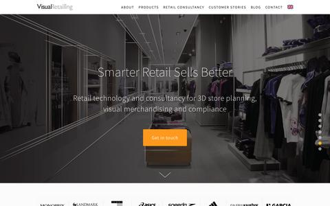 Screenshot of Home Page visualretailing.com - Visual Retailing - captured Oct. 18, 2018