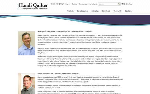 Screenshot of Team Page handiquilter.com - Handi Quilter - HQ Management - captured Sept. 19, 2014